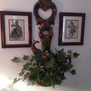 Wall Hanging Ladle and antique wall pictures