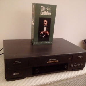 Toshiba VCR + Godfather Part 1 wide screen + cables (no remote)