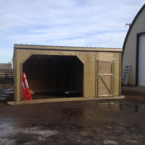 8x20 horse shelter with tack room