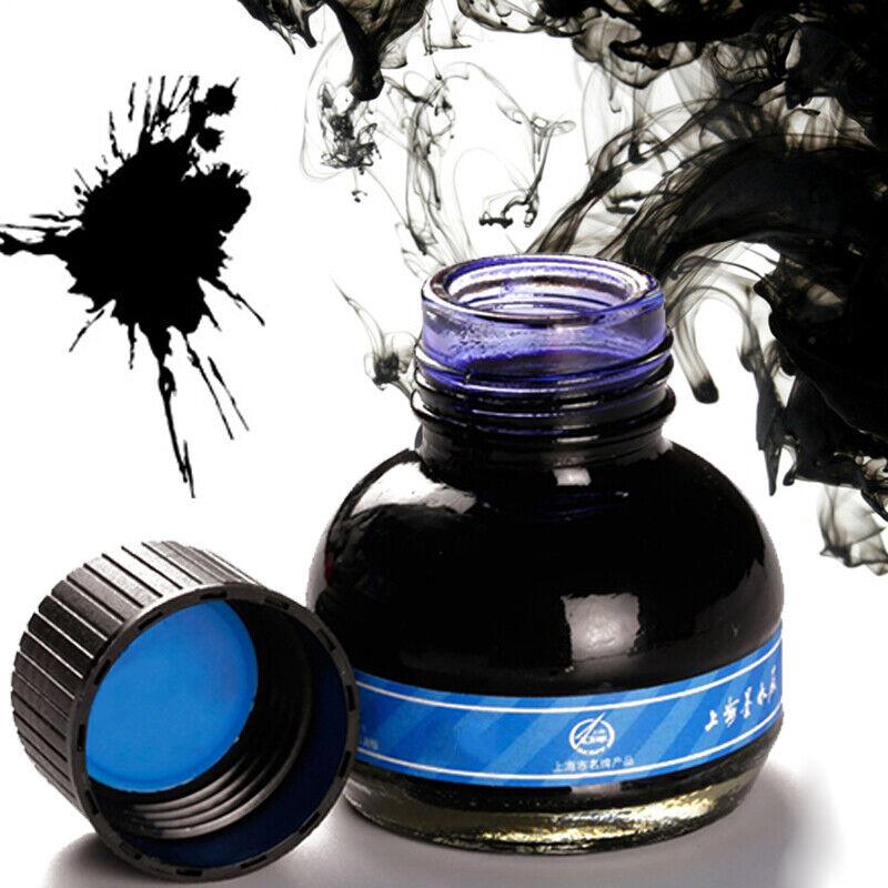 60ml Hero 234 Blue Carbon Fountain Pen Ink Writing Ink Refill Glass Bottle