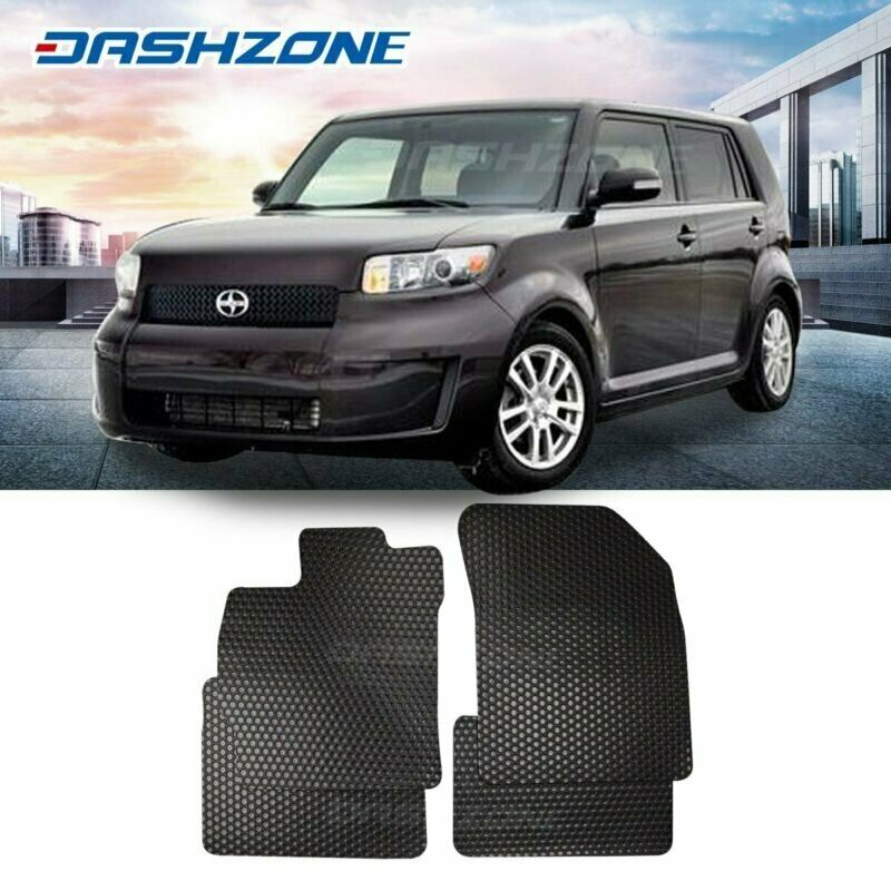 All Weather Black Rubber Floor Mats Liners Front Rear Fit 2008-2015 Scion XB
