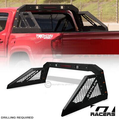 For Pickup Truck Adjusable Chase Rack Roll Bar With 3rd Brake Lamp+LED+Amber GIJ