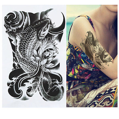 - Large Temporary Tattoo - Fish tattoo - Koi Fish tattoo