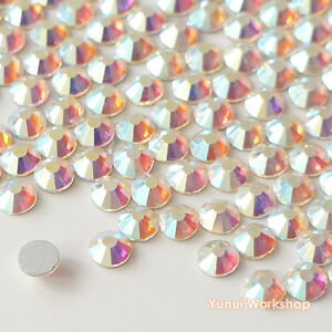 Clear-AB-1-3mm-8mm-Crystal-Flatback-Glass-Rhinestone-Scrapbook-Nail-Art-Craft