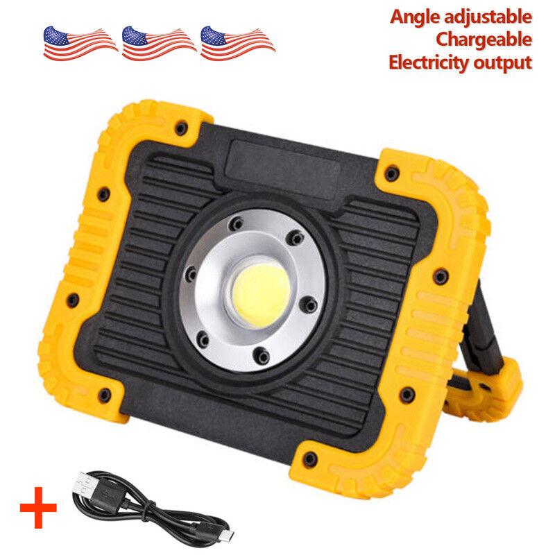 Portable COB LED Work Light spotlight Battery Power Lantern