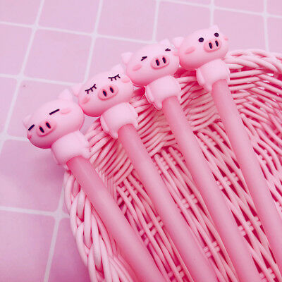 2pc  Cartoon Pink Pig Gel Pen 0.5mm Stationery Kids Gifts Promotional  - Promotional Pen