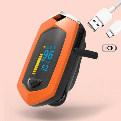 Oled Finger Pulse Oximeter Blood Oxygen Spo2 Pr Heart Rate Monitor Rechargeable
