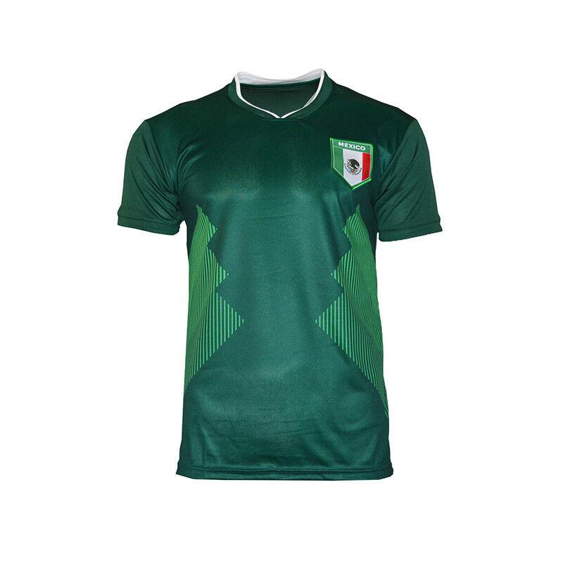 Mexico National Team Sports Jersey Patriotic Flag Shield Pri