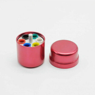 1x Red Aluminum Dental Endodontic Paper Gutta Percha Organizer Container Holder