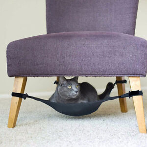 Cat Crib Chair Hammock Black Fit To Any 4 Legs Chairs