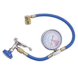 Recharge R134A Air Conditioning Measuring Kit Hose Gauge Valve Refrigerant Pipe