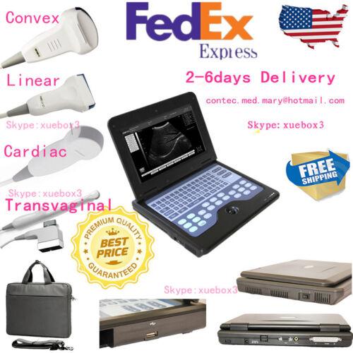 Usa 4 Probes Full Digital Ultrasound Scanner Diagnostic Machine High Resolution