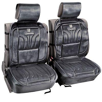 2 Abdeckungen Sitz Auto Velours Schwarz Integral Kompatibel Alle Typ