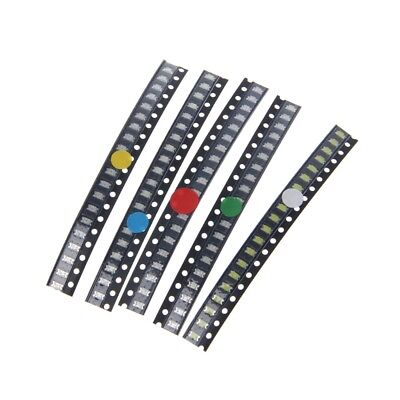 100 Pcs 5 Colors 1206 Smd Led Light Red White Green Blue Yellow Assotment Kit