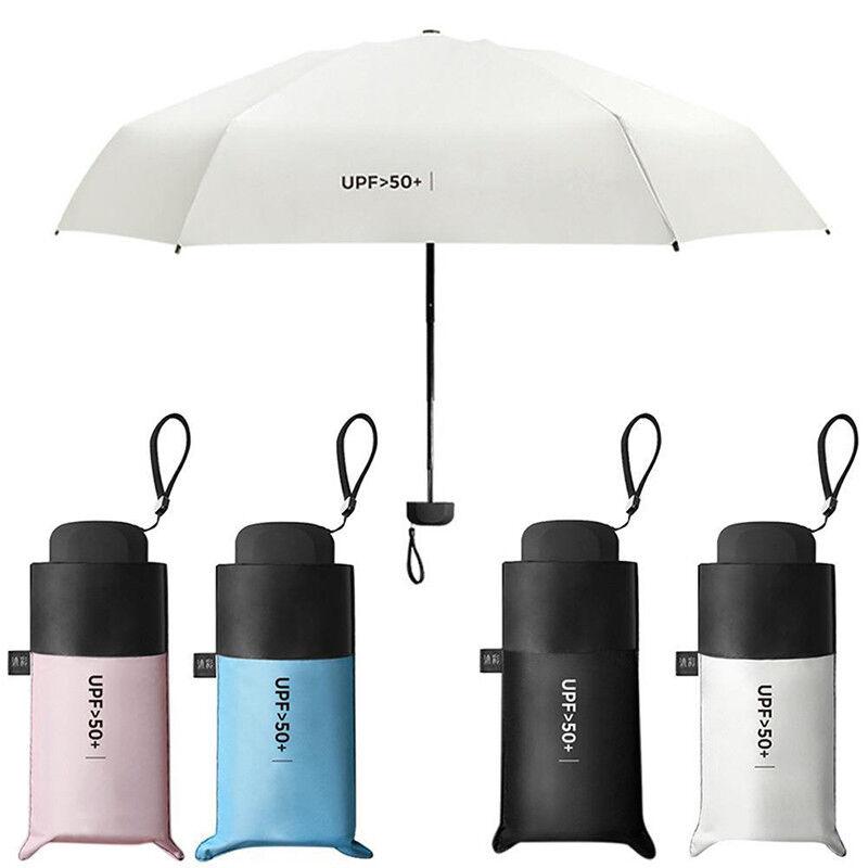 US Mini 5-Folding Compact Umbrella Windproof Anti-UV Rain Sun Travel Portable Women's Umbrellas