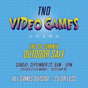 Huge Video Game Sale - All Games $5 or Less (Stitts Flea Market)
