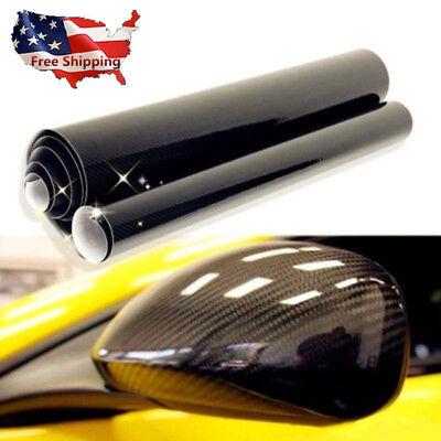 "Auto Truck Trailer Pickup Carbon Fiber Vinyl Wrap Sheet Sticker Decal 12""x60"" 1X"
