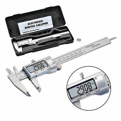 Lcd Electronic Caliper Vernier Stainless Steel Micrometer Gauge Meter Ruler Kit