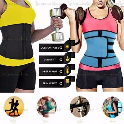 Best Women Sweat Neoprene Workout Waist Trainer Corset Trimmer Belt Body (Best Waist Trimmer Sweat Belt)