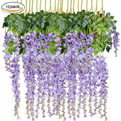 12 Artificial Wisteria Vine Purple Hanging Garland Wedding Decor