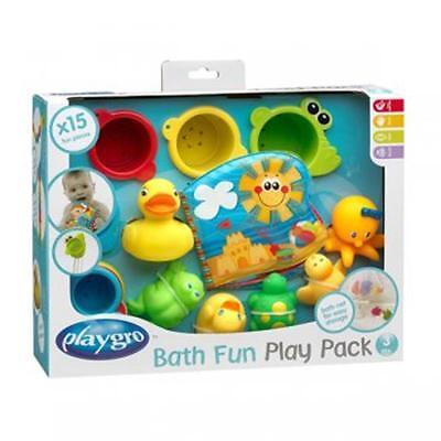 Playgro Badespielzeug Geschenkset 15-teilig ab 3 Monaten NEU #9615