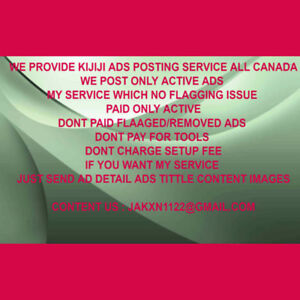 Capable KIJIJI Ads POSTING Organization Available