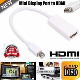 Mini Display Port Thunderbolt to HDMI Cable Converter Adapter For Mac MacBook