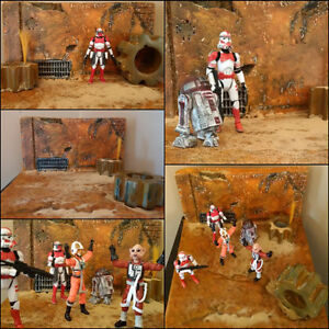 Jakku/Tattoine style Action Figure Diorama (Star Wars)