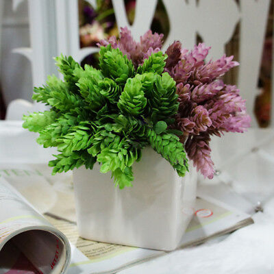 Artificial Plant Fake Leaves Foliage Grass Bush Wedding Party Garden Home Decor - Decorative Grass