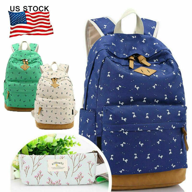 US for Teens Backpack Student School Bag Shoulder Rucksack C