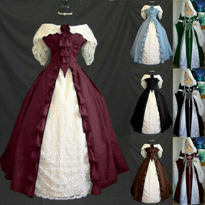 Medieval Renaissance Women Victorian Retro Dress Party Palace Cosplay Costume - Retro Party Costumes