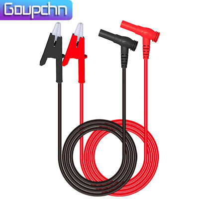 Goupchn Multimeter Test Lead Banana Plug Right Angle To Alligator Clip Soft Wire