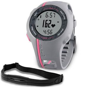 Garmin Forerunner 110 Pink w/ Heart Rate Monitor GPS Watch 010-0