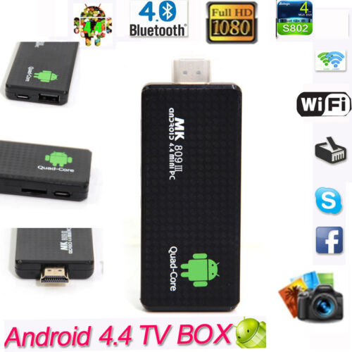 Details about Mini Smart TV Box PC MK809 III RK3188 Quad Core Android 4 4  HDMI WIFI Bluetooth