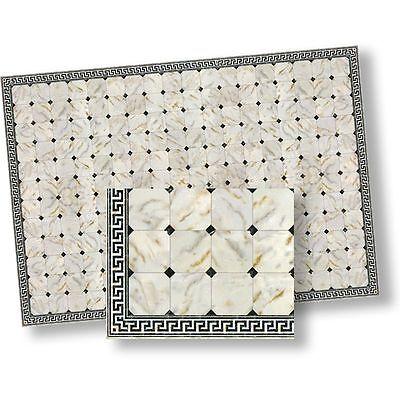 1:24 Dollhouse Flooring Faux Marble Floor Tile by World Model
