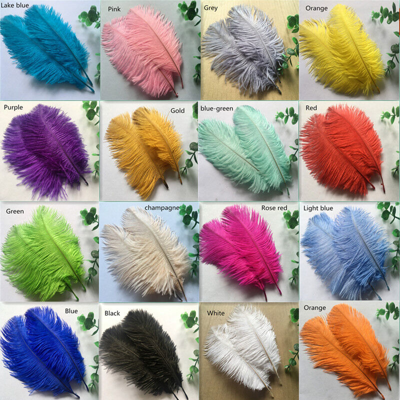 Beautiful10-100 pcs quality ostrich feather 6-24 inches 15-60 cm wholesale