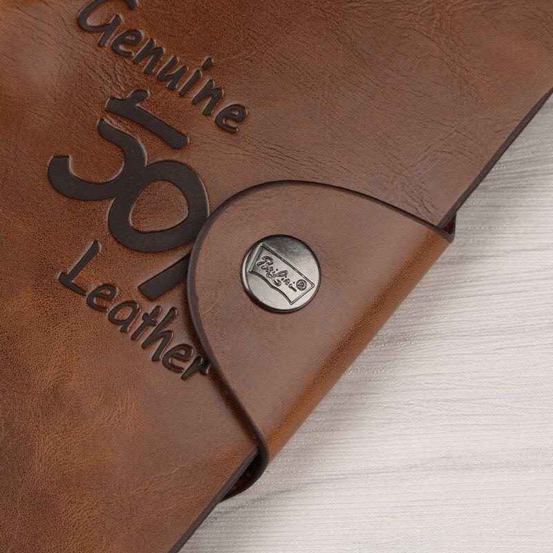 Men's Leather Wallet Bifold ID Card Holder Checkbook Long Clutch Billfold Purse 4