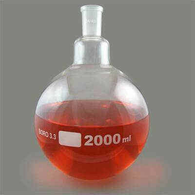 Single Neck Round Bottom Boiling Flask 2440 Joint 2000ml