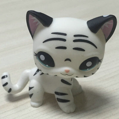 Custom OOAK LPS Short Hai Ca White Black Hand Painted LITTLEST PET SHOP