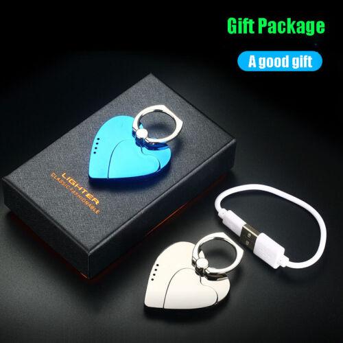 USB  Cigarette Lighter Love Mobile Phone Holder Windproof Sm