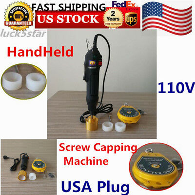 110velectric Handheld Screw Capper Bottle Sealing Machine For Screw Cap Usa