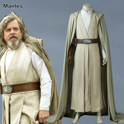 Luke Skywalker Jedi Costume (Luke Skywalker Cosplay Star Wars 8 The Last Jedi Costume Fancy Dress Outfit)