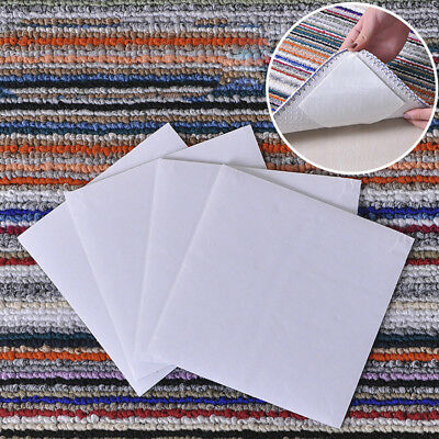 4pcs anti skid fabric floor washable carpet