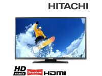 """Slim Hitachi 32"""" inch HD LED TV with Freeview , 2 HDMI Ports + USB, May Deliver Locally"""