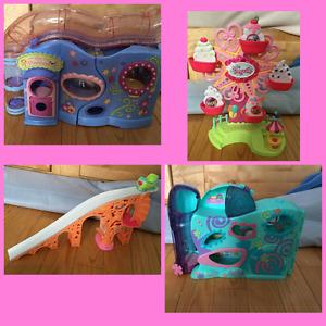Pet shop jouets maisons -figurines-accessoires