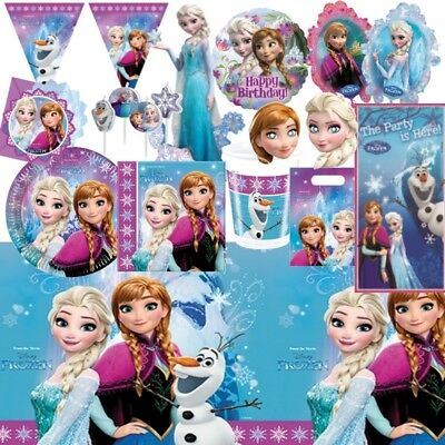 Disney Frozen Elsa Anna Party Tableware, Decorations and Balloons (Frozen Elsa Party Decorations)