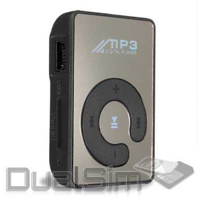 Mp3 Player Mirror-Design Schwarz Mini Clip Sport Micro SD-Karte bis 32GB Musik