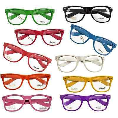 Neu! Trend Nerd Brillen Brille Clear Streber Hornbrille Atzenbrille ohne Stärke