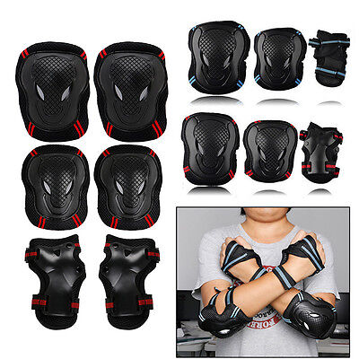 6pcs Skating Protective Gear Sets Elbow Knee Pads Bike Skateboard For Adult Kid