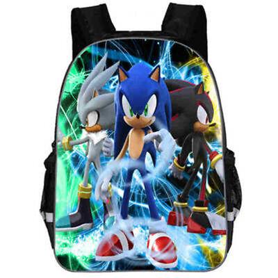 Sonic the Hedgehog 3D Print Kids' Backpack Boy Girl School Bookbag Travel Bag  - Sonic Girls